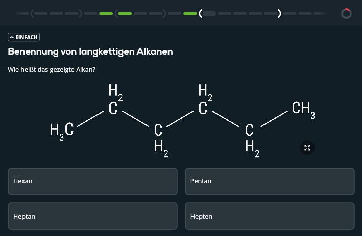 Aufgabe im Fach Chemie